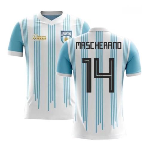 2018-2019 Argentina Home Concept Football Shirt (Mascherano 14)