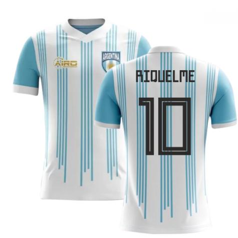2020-2021 Argentina Home Concept Football Shirt (Riquelme 10)