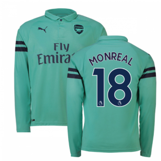 2018-2019 Arsenal Puma Third Long Sleeve Shirt (Monreal 18)