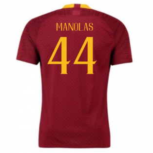 2018-2019 AS Roma Home Nike Football Shirt (Manolas 44) - Kids