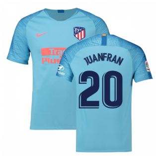 2018-2019 Atletico Madrid Away Nike Football Shirt (Juanfran 20)