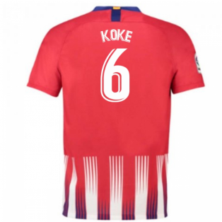 2018-2019 Atletico Madrid Home Nike Football Shirt (Koke 6) - Kids