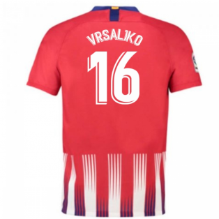 2018-2019 Atletico Madrid Home Nike Football Shirt (Vrsaljko 16) - Kids