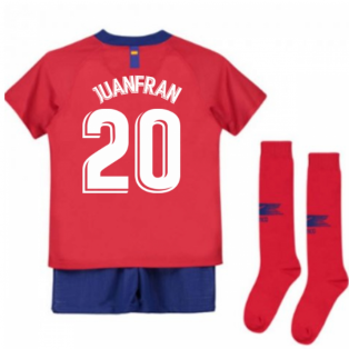 2018-2019 Atletico Madrid Home Nike Little Boys Mini Kit (Juanfran 20)