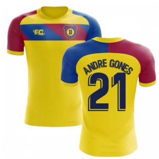 2018-2019 Barcelona Fans Culture Away Concept Shirt (Andre Gones 21) - Womens