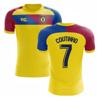 2018-2019 Barcelona Fans Culture Away Concept Shirt (Coutinho 7)