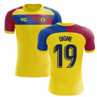 2018-2019 Barcelona Fans Culture Away Concept Shirt (Digne 19)