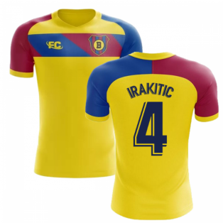 2018-2019 Barcelona Fans Culture Away Concept Shirt (I.Rakitic 4)