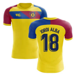 2018-2019 Barcelona Fans Culture Away Concept Shirt (Jordi Alba 18) - Little Boys
