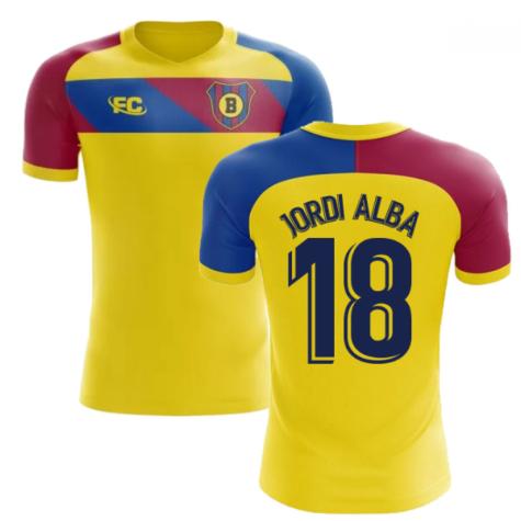 2018-2019 Barcelona Fans Culture Away Concept Shirt (Jordi Alba 18)