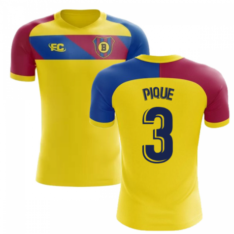 2018-2019 Barcelona Fans Culture Away Concept Shirt (Pique 3)