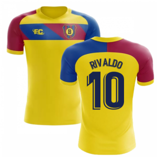 2018-2019 Barcelona Fans Culture Away Concept Shirt (Rivaldo 10)