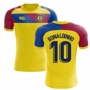 2018-2019 Barcelona Fans Culture Away Concept Shirt (Ronaldinho 10)