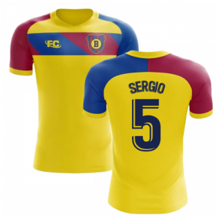 2018-2019 Barcelona Fans Culture Away Concept Shirt (Sergio 5)