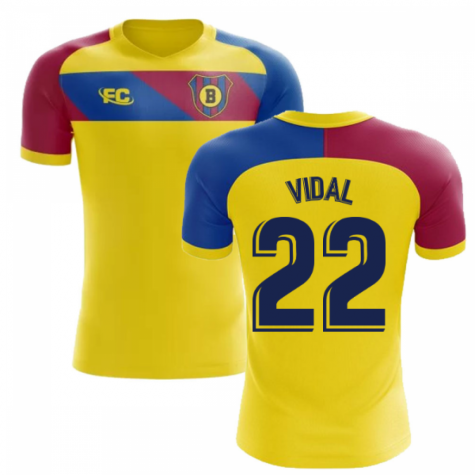 2018-2019 Barcelona Fans Culture Away Concept Shirt (Vidal 22) - Little Boys