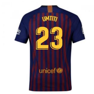 2018-2019 Barcelona Home Nike Football Shirt (Umtiti 23)
