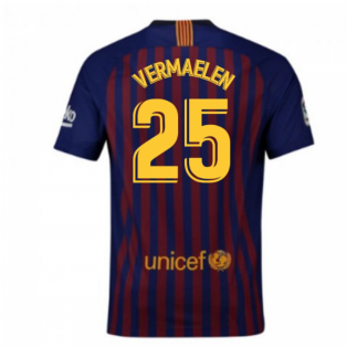 2018-2019 Barcelona Home Nike Football Shirt (Vermaelen 25)