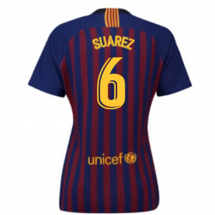 2018-2019 Barcelona Home Nike Ladies Shirt (Suarez 6)