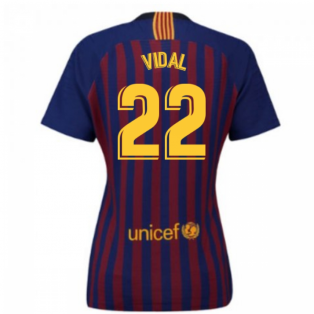 2018-2019 Barcelona Home Nike Ladies Shirt (Vidal 22)