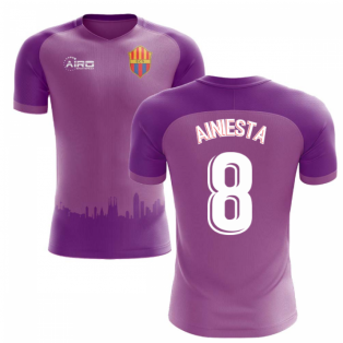 2020-2021 Barcelona Third Concept Football Shirt (A.Iniesta 8) - Kids