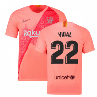 2018-2019 Barcelona Third Nike Football Shirt (Vidal 22)