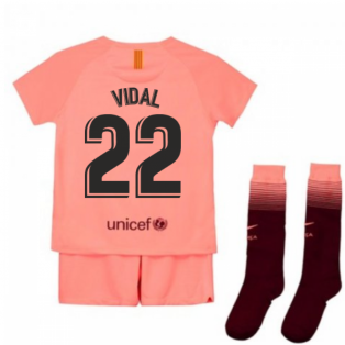 2018-2019 Barcelona Third Nike Little Boys Mini Kit (Vidal 22)