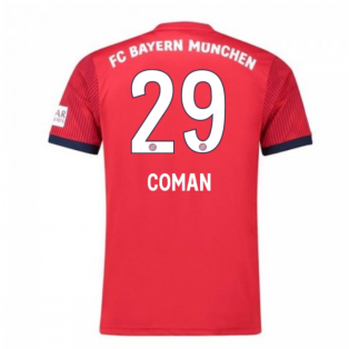2018-2019 Bayern Munich Adidas Home Football Shirt (Coman 29) - Kids
