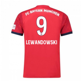 2018-2019 Bayern Munich Adidas Home Football Shirt (Lewandowski 9)