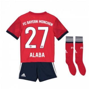 2018-2019 Bayern Munich Adidas Home Little Boys Mini Kit (Alaba 27)