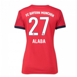 2018-2019 Bayern Munich Adidas Home Womens Shirt (Alaba 27)