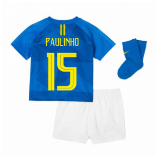 2018-2019 Brazil Away Nike Baby Kit (Paulinho 15)