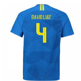 2018-2019 Brazil Away Nike Vapor Match Shirt (David Luiz 4)