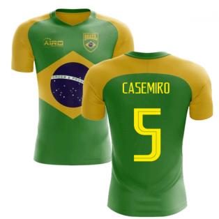 2018-2019 Brazil Flag Concept Football Shirt (Casemiro 5)