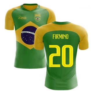 2020-2021 Brazil Flag Concept Football Shirt (Firmino 20)