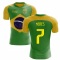 2020-2021 Brazil Flag Concept Football Shirt (Neres 7)