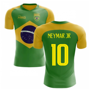 2018-2019 Brazil Flag Concept Football Shirt (Neymar Jr 10)