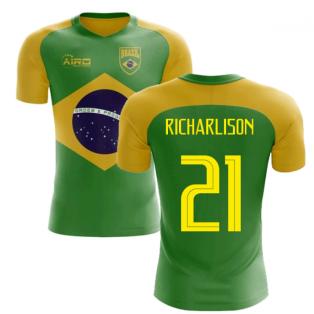2018-2019 Brazil Flag Concept Football Shirt (Richarlison 21)