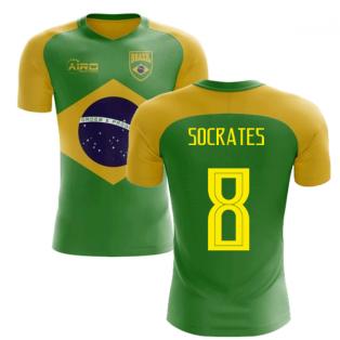 2018-2019 Brazil Flag Concept Football Shirt (Socrates 8)