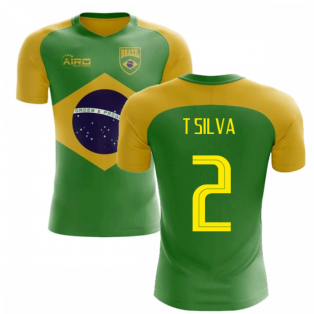 2020-2021 Brazil Flag Concept Football Shirt (T Silva 2)