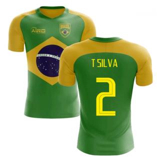 2018-2019 Brazil Flag Concept Football Shirt (T Silva 2)