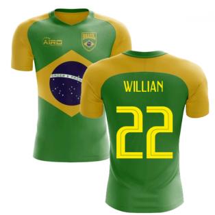 2018-2019 Brazil Flag Concept Football Shirt (Willian 22)