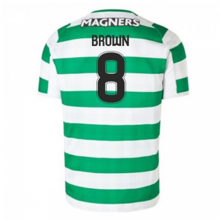 2018-2019 Celtic Home Football Shirt (Brown 8) - Kids