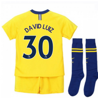 2018-2019 Chelsea Away Nike Little Boys Mini Kit (David Luiz 30)