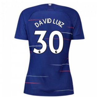 2018-2019 Chelsea Home Nike Ladies Shirt (David Luiz 30)
