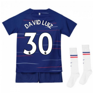 2018-2019 Chelsea Home Nike Little Boys Mini Kit (David Luiz 30)
