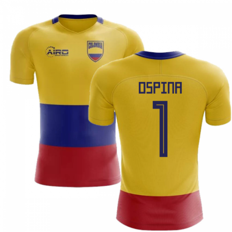 2020-2021 Colombia Flag Concept Football Shirt (Ospina 1)