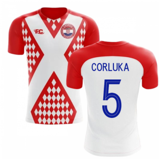 2018-2019 Croatia Fans Culture Home Concept Shirt (Corluka 5)