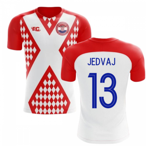 2018-2019 Croatia Fans Culture Home Concept Shirt (Jedvaj 13)