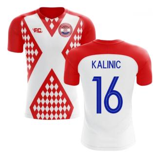 2018-2019 Croatia Fans Culture Home Concept Shirt (Kalinic 16)