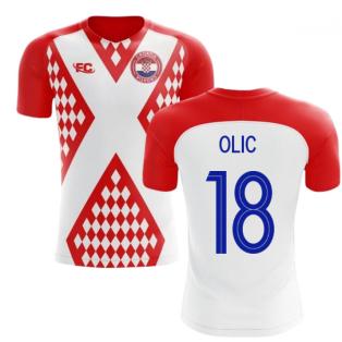 2018-2019 Croatia Fans Culture Home Concept Shirt (Olic 18)